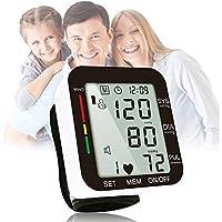 Rongda Monitor de presión Arterial de muñeca, Mide de Forma Totalmente automática con Pantalla LCD Digital y Estuche portátil para presión Arterial y latidos