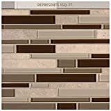 #8: Sienna Interlocking 12 in. x 12 in. x 8 mm Stone Glass Mesh-Mounted Mosaic Tile