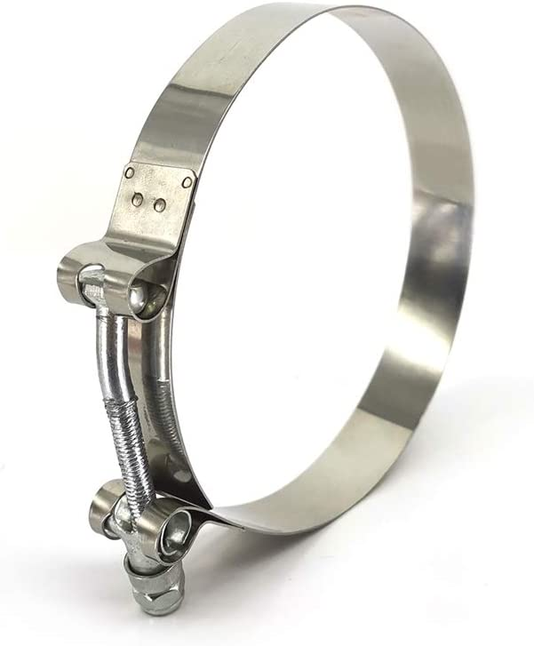 Hose Clamp Stainless Steel for Turbo Silicone Intercooler 107-116mm of 2pcs.011 BAFAI T-Bolt Clamp 4inch(range 4.21 to 4.56