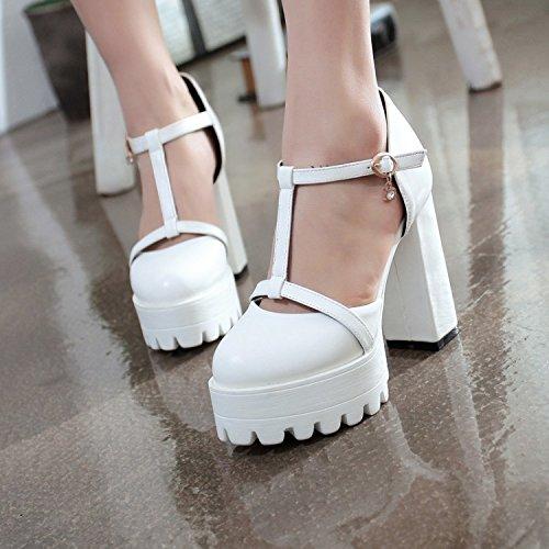 con a Spessi White ZHZNVX tacco scarpe a sandali alto cava T con Y67qwH