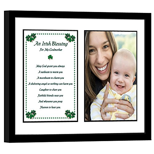 Poetry Gifts Godmother Gift from Godson or Goddaughter - Irish Blessing Frame - Add Photo