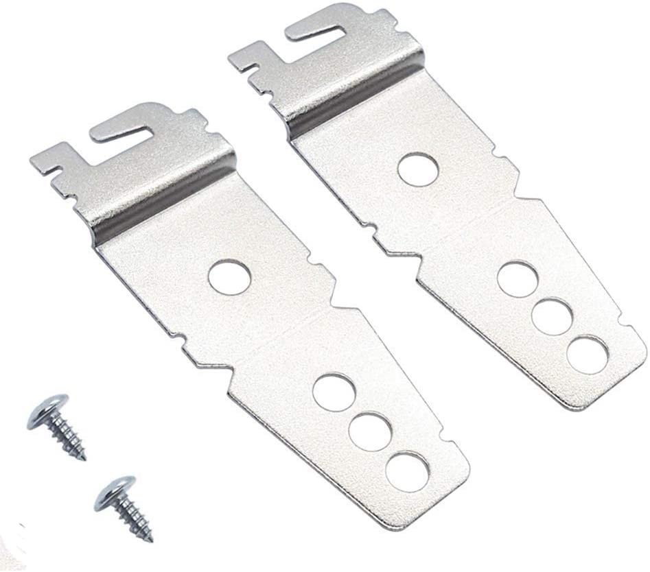 2 Packs Undercounter Dishwasher Mounting Brackets Replacement with Screws, Dishwasher Upper Mounting Clips Parts, Compatible for Whirlpool, Kitchenaid, Maytag, Kenmore, Compare to 8269145/WP8269145