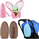 Lucky staryuan 3Pack Insulated Bottle Tote Bag, Portable Breast Milk Baby Bag (Girl)