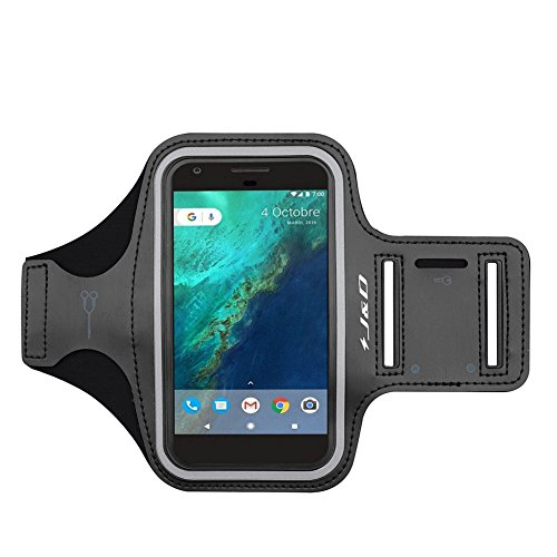 J&D Armband Compatible for Google Pixel 3a/Pixel 3/Pixel 2/Google Pixel Armband, Sports Armband w/Key Holder Slot, Perfect Earphone Connection Google Pixel 3a Pixel 3 Pixel 2 Pixel Running Armband
