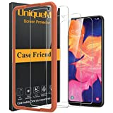 [3 Pack] UniqueMe Compatible with Samsung Galaxy A10E Screen Protector,9H Hardness Bubble Free Tempered Glass with Lifetime Replacement Warranty