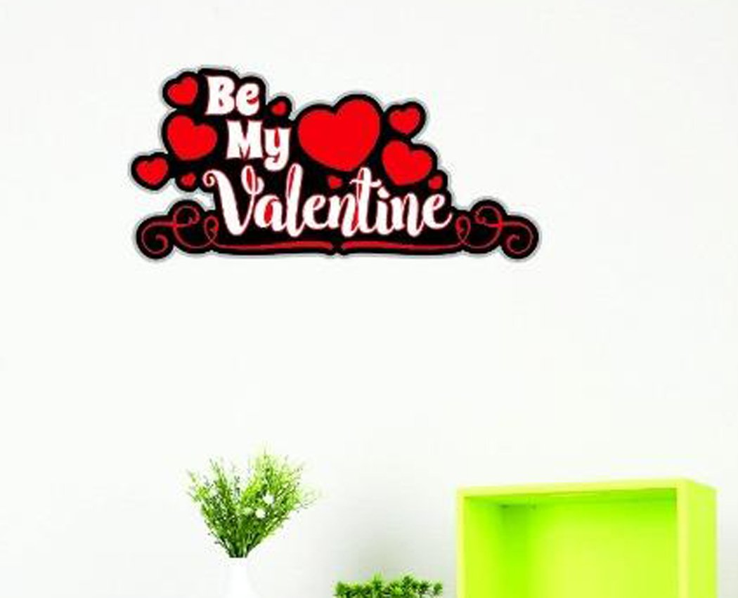 20 Inches X 40 Inches Color Multi 20 x 40 Design with Vinyl US V JER 3316 3 Top Selling Decals Be My Valentine Wall Art Size