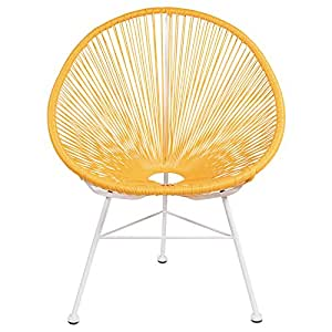 Acapulco Lounge Chair - Yellow on White