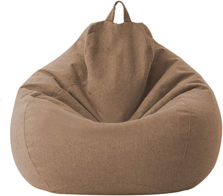Geagodelia Copridivano per Divano Pigro Fodera Per Divano Fodera Per Poltrona A Sacco Per Divano Bean Bag Cover Giallo, 70 * 80cm senza sacco