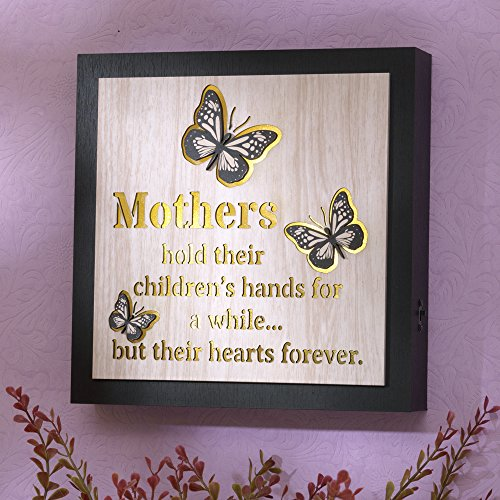 Bits and Pieces - Sentimental A Mother's Love Wall Art - Framed Mom Quote, Love Quote, Family Quote - Lighted Wall Décor
