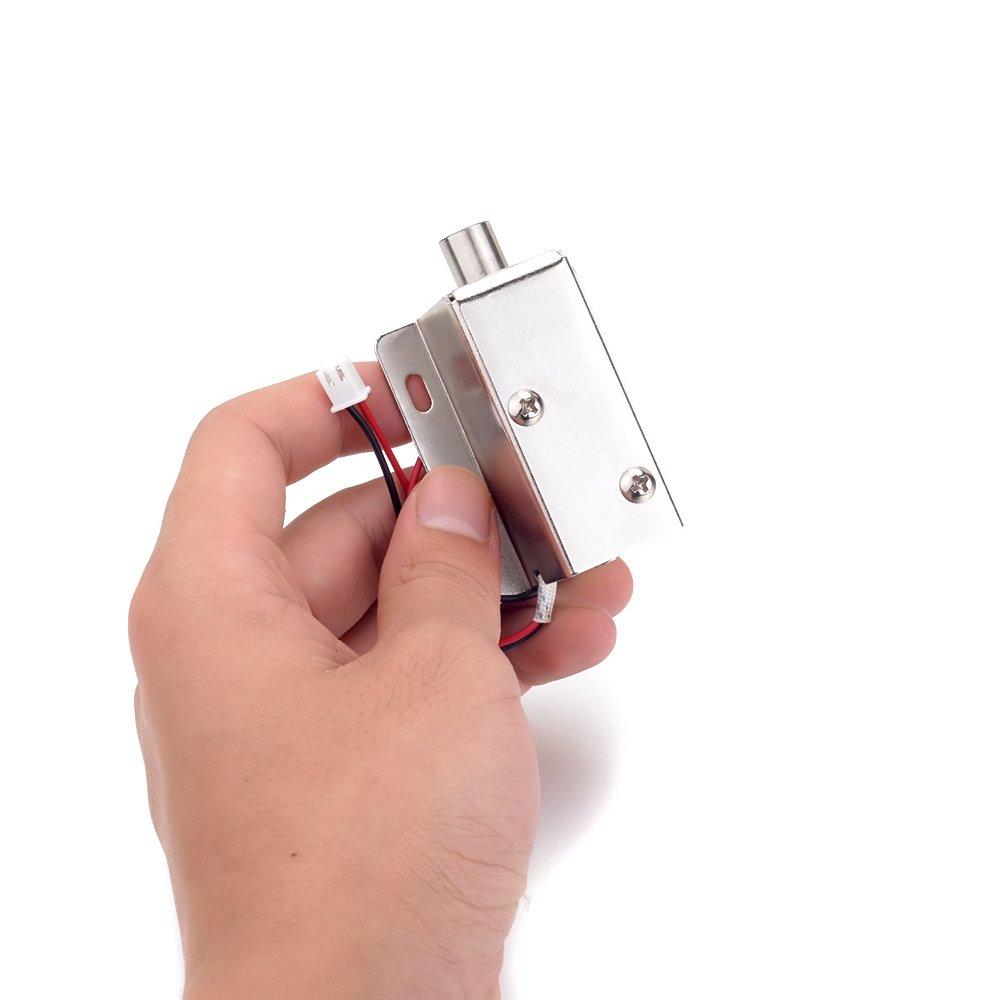 2pcs 0.8A, 554239mm ATOPLEE Caj/ón de la puerta lengua hacia abajo Conjunto de bloqueo del solenoide el/éctrico DC 12V delgado Dise/ño Cerradura 4 tama/ños