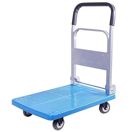 Carrito de compras ZGL Trolley Camión con plataforma Plegado Trolley Manipulación Remolque Pull Goods Trolley High