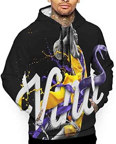 Angxue RIP Ko-be Unisex Graphic Printed Hoodie Pullover Sweatshirt for Men