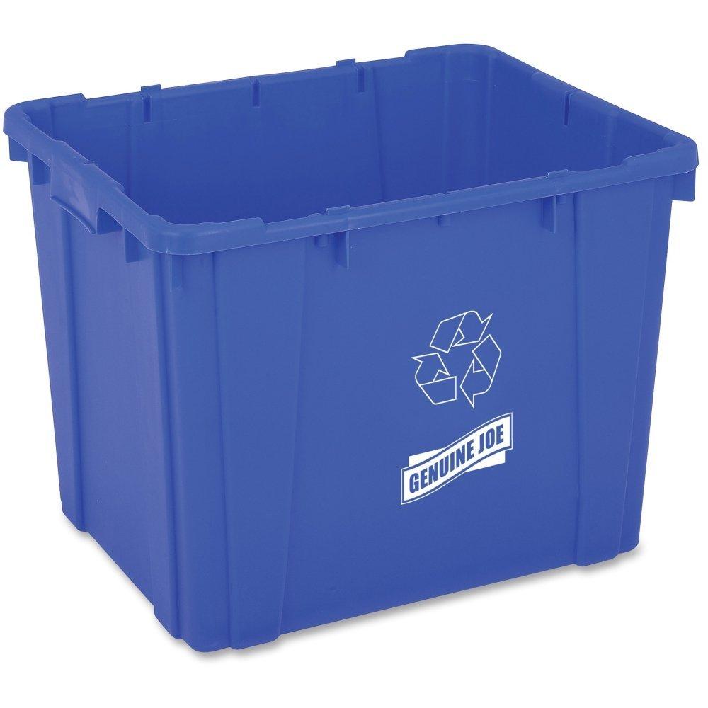 Genuine Joe GJO11582 Recycling Bin, Rectangular, 14 gal Capacity, 14.5