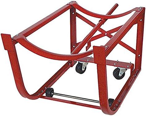 Wood Handles /& Steel Wheels Red Heavy Duty Drum Cradle