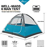 Alprang-Camping-Tent-6-Person-Dome-TentPortable-Foldable-Waterproof-Outdoor-Festival-Camping-Dome-Tent-Kit-blue