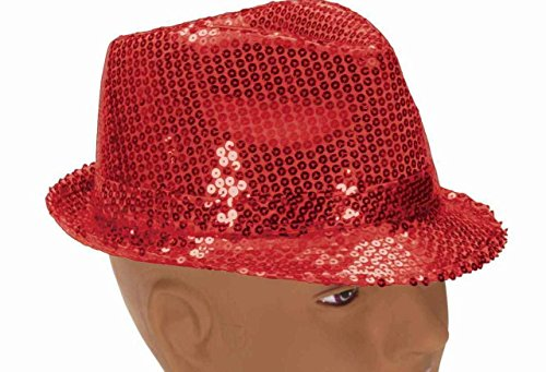 Forum Novelties Sequin Fedora Hat,