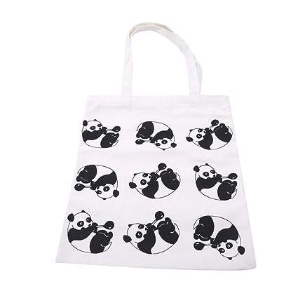 Amazon.com | Encantador creativo Panda Animal imprimir bolsa ...