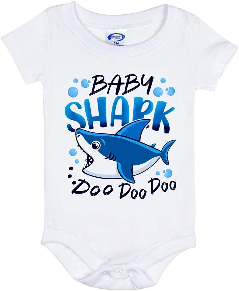 Baby Boy Shark Doo Doo Doo Baby Onesie ? Infant Bodysuit