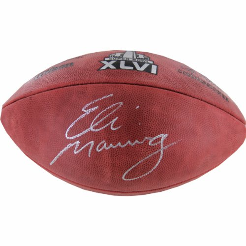 NFL New York Giants Eli Manning Autographed Super Bowl XLVI Football by Steiner Sports
