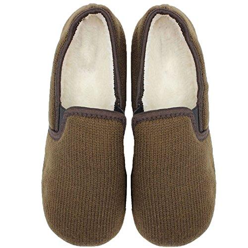 Pantofole Di Peluche Di Lavra Womens Accogliente Casa Marrone
