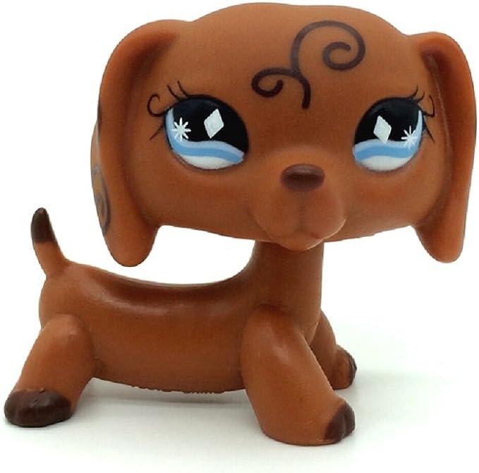 Rare Littlest Pet Shop White Dachshund Dog Animal OOAK LPS #027