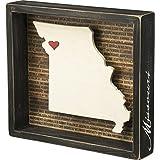 "Primitives by Kathy 27802 Inset Dimensional Box Sign, 9.50"" x 8.50"" x 1.75"", Missouri"