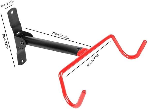 Peso De hasta 66 Libras Soporte De Pared para Colgar Bicicletas De Acero S/ólido para Garaje con Ganchos De Pared para Garaje Haodene Soporte De Pared para Bicicleta Pr/áctico Y Plegable