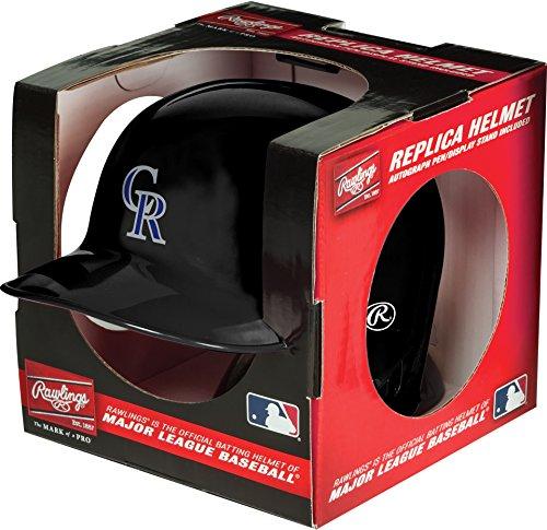 Jarden Sports Licensing MLB Colorado Rockies Mini Replica Helmet, Black ()
