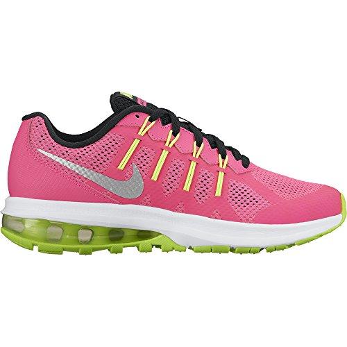 Nike Girls Air Max Dynasty Running Shoe Hyper Pink/Metallic Silver-White-Black 6.5Y