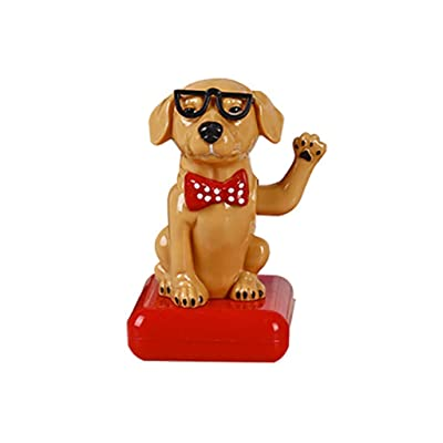 Ouniman Solar Dancing Toys, 26 Styles Cute Animals Solar Dancing Monkey Dog Solar Powered Toys Car Swinging Dancing Toy Car Decoration for Dashboard Windowsill Home Desk Decor (H): Home & Kitchen