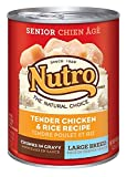 NUTRO Large Breed Senior Chicken and Rice Canned Dog Food, 12.5 oz. by Nutro