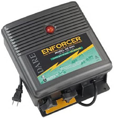 USA Made DARE Enforcer 110V Plug In DE80  Up to 5 Acres Fence Charger Free Ship