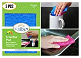 ODOR FREE Scrubber Pad (3 Pk) for Dishwashing, Scrubbing, Cleaning | Scratch Free