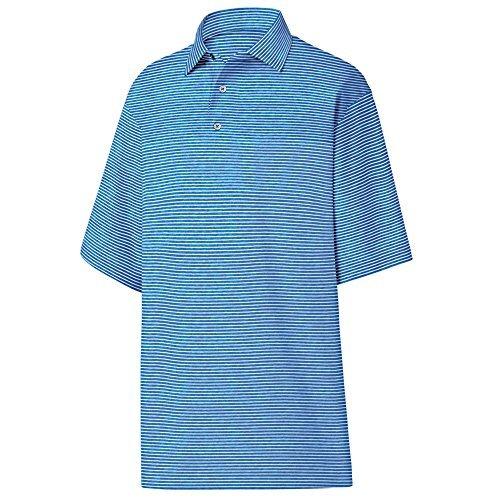 (FootJoy ProDry Heather Pinstripe Lisle Golf Shirt W/Self Collar)