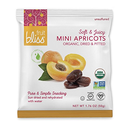 Unsulfured Turkish Apricots - Organic Apricots Dried Fruit Snacks - Healthy Snacks for On the Go & Post Workout Snacks - Non-GMO, Gluten-Free, Dried Apricot Fruit Snacks (12 Mini Pack - 1.76 oz. each