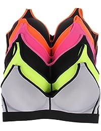 Wireless Bra for Women Comfort Cotton Sport Bra Set Assort 6 Pack