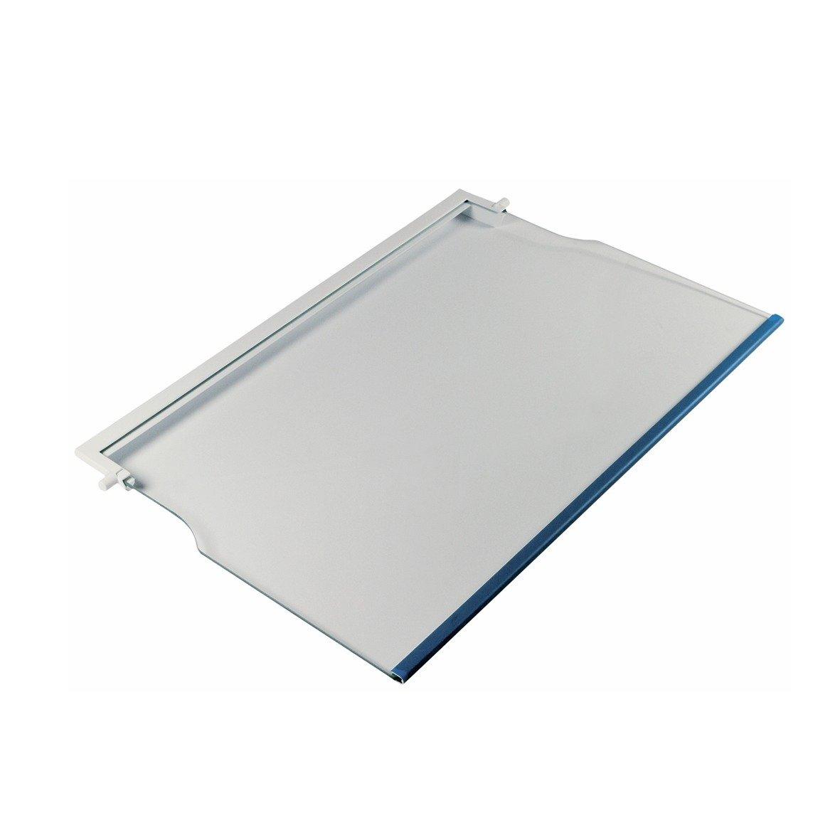 Glasplatte SIEMENS 00353028 Original in weißem Rahmen für Kühlschrank eingesetzt