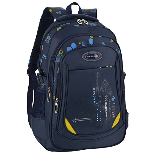 Bageek School Bag for Boys Bookbag Multi-pockets School Backpack Casual Backpack ()
