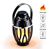 LED Flame Speaker,FW-ZONE Outdoor/Indoor Bluetooth Speakers LED Night Light,Camping Hiking Fishing Lamp, Dancing Atmosphere Flickers Flame Torch Two mode lamplight, Portable Stereo Speaker