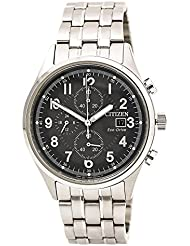 Citizen Watches Mens CA0620-59H Eco-Drive Silver Tone Watch