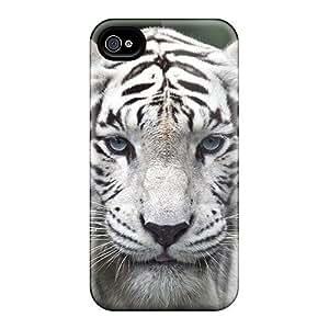 For Iphone 4/4s Fashion Design White Tiger Case-EhNRfJD3622WudfU