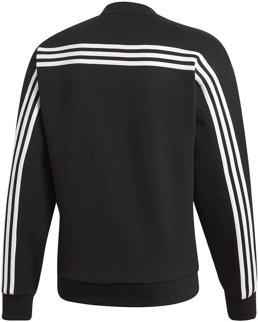 adidas Men's Must Have 3 stripes Crew Sweatshirt