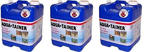 Reliance Products Aqua-Tainer 7 Gallon Rigid Water Container (3-PACK) by Reliance Products