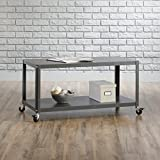 Coffee Table with Casters Sauder 417674 Square1 Multi-Cart, L: 35.98