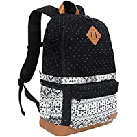 Koolertron Professional Cute Canvas Camera Case / Backpack with Rain Cover for SLR DSLR Canon Nikon Sony Camera Bag Fits for 15 Laptop (Black-2)