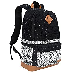 "Koolertron Professional Cute Canvas Camera Case Backpack With Rain Cover For Slr Dslr Canon Nikon Sony Camera Bag Fits For 15"" Laptop (Black-2)"