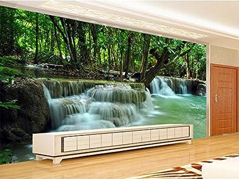 Sykdybz 3d Photo Wallpaper Verde Natura Paesaggio Cascata Murale