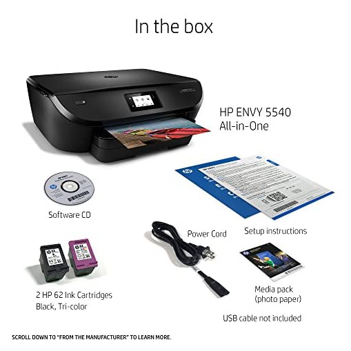 Hp Envy 5540 Wireless All In One Photo Printer With Mobile Printing Instant Ink Ready K7c85a