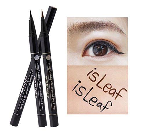 isLeaf Long Lasting Waterproof Fine Line Precision Liquid Eyeliner Brown 1ea (Ink tank type)