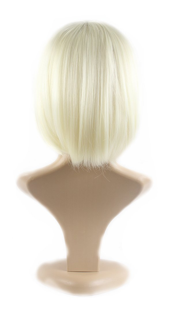 Xiaoyu Flat Bangs Natural Short Straight BOB Ladies Cosplay Wigs - Beige by Xiaoyu: Amazon.es: Belleza